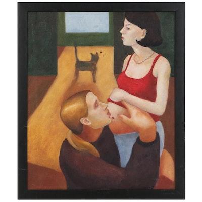 "Yoko Nogami Oil Painting ""Fatherhood: Case of Rob"""