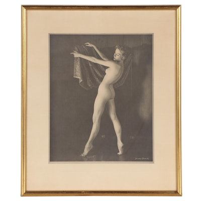 Female Nude Halftone After Danny Rouzer, Mid to Late 20th Century