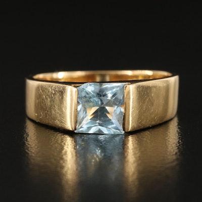 18K Sky Blue Topaz Ring