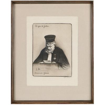 "Lithograph After Honoré-Victorin Daumier ""Jacquinot-Godard"""