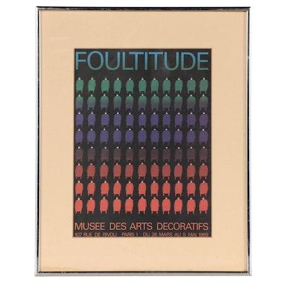 "Silkscreen Print After Jean-Michel Folon ""Foultitude,"" 1969"