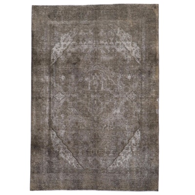 6'7 x 9'5 Hand-Knotted Persian Overdyed Area Rug