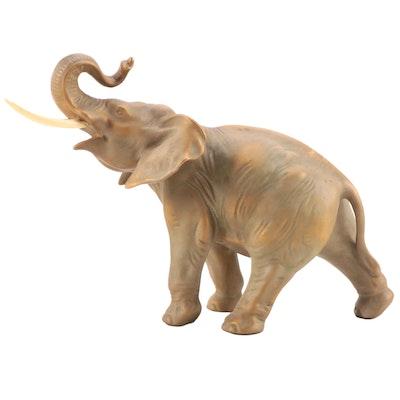 Gilt Finish Ceramic Elephant Figurine