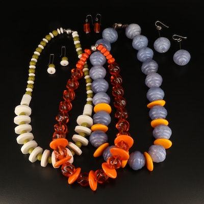 Beaded Necklace and Earrings Collection