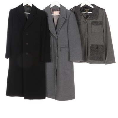 Pendleton Double-Breasted, Jos. A. Bank Chesterfield and Charles F. Orvis Coats