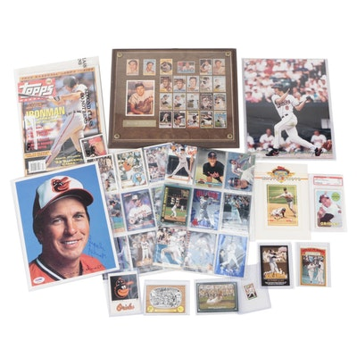 Cal Ripken and Brooks Robinson Collection Including Autographs, Cards and More