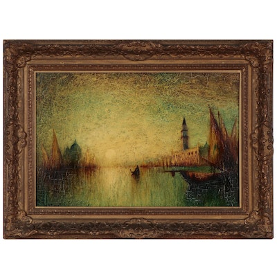 George Henry Bogert Luminist Style Oil Painting, Circa 1920