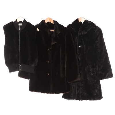 Orvis Reversible Parka, Lisa International Vest and Russel Taylor Minçara Coat