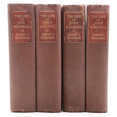 """The Life of John Marshall"" Complete Four-Volume Set by Albert J. Beveridge"