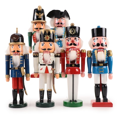Enesco and Other Wooden Nutcrackers, Late 20th Century