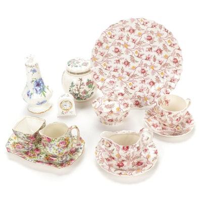 "Spode ""Rosebud Chintz"" Dishware With Other English China Tableware"