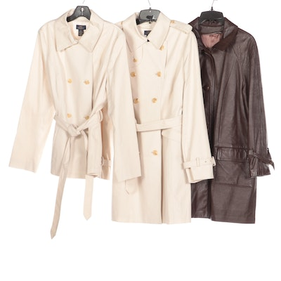 Brooks Brothers 346 Double-Breasted Raincoats and Leathers by New England Coat