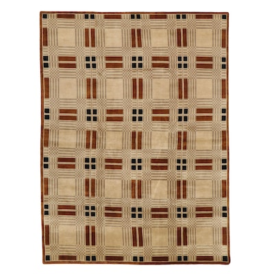 8'11 x 11'10 Hand-Knotted Area Rug