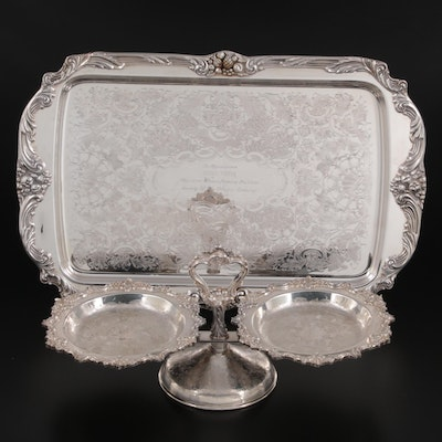 Reed & Barton and Silver by Sacks Floral Chased Silver Plate Serveware