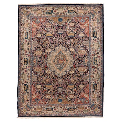 9'11 x 13'2 Hand-Knotted Persian Kashmar Pictorial Room Size Rug