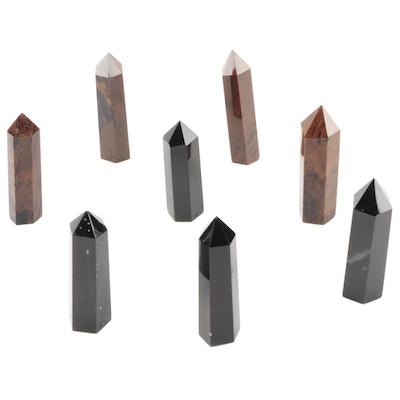 Obsidian and Mahogany Obsidian Polished Stone Points