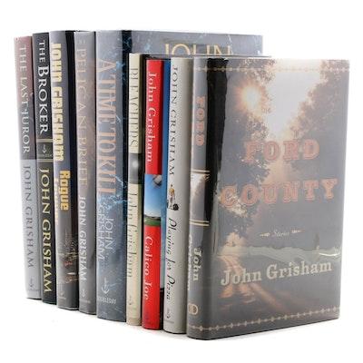 "Signed First Edition ""Bleachers,"" ""Calico Joe,"" and Other John Grisham Novels"