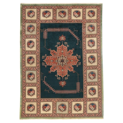 9'7 x 13'8 Hand-Knotted Room Sized Rug