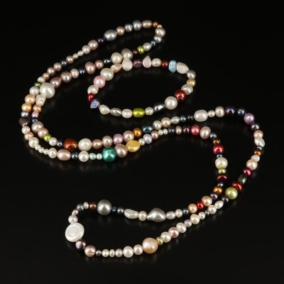 Endless Pearl Necklace and Expandable Bracelet