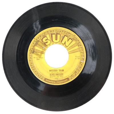 "Sun Records Elvis Presley ""Mystery Train"" 45 RPM Vinyl Record, 1955"