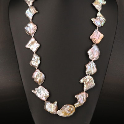 Baroque Pearl Necklace with 18K Clasp