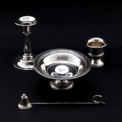 M. Fred Hirsch Co. Sterling Compote with Other American Silver Table Accessories