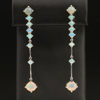 Sterling Opal Earrings