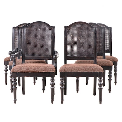 Six Lexington French Provincial Style Hardwood Dining Chairs