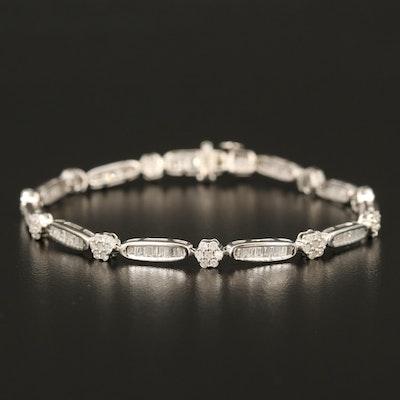 Sterling 2.19 CTW Diamond Link Bracelet