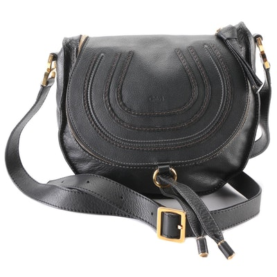 Chloé Marcie Black Leather Crossbody Bag