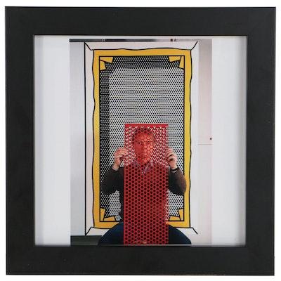 """Thomas Hoepker Digital C-Print Portrait Photograph """"Roy Lichtenstein"""""""