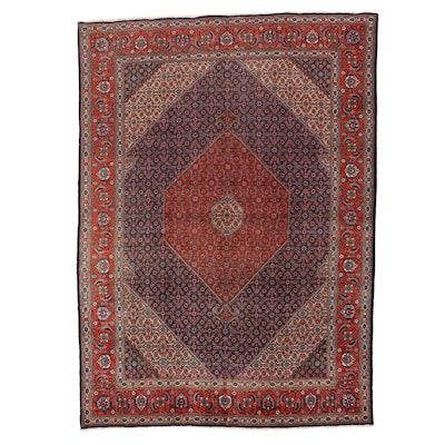 9'7 x 13'3 Hand-Knotted Persian Tabriz Room Sized Rug