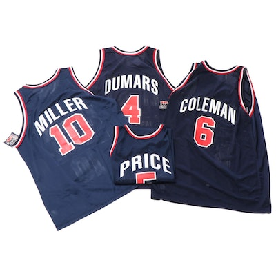 Champion Dream Team II NBA Jerseys with Price, Dumars, Miller and Coleman