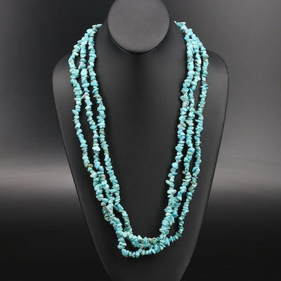 Magnesite Beaded Endless Necklaces