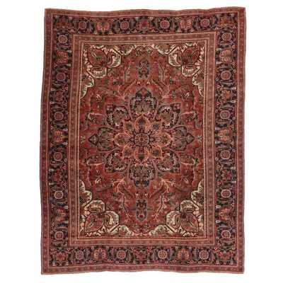 9'8 x 12'6 Hand-Knotted Persian Mashhad Room Size Rug