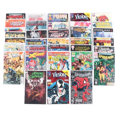 """Modern Age Marvel Comics Including """"Spider-Man"""" and """"X-Men"""", 1990s - 2010s"""