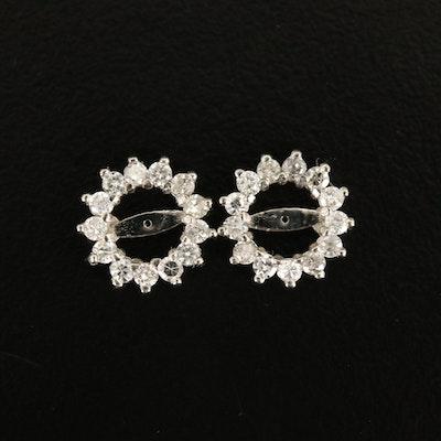 14K 0.39 CTW Diamond Earring Jackets