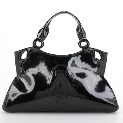 Cartier Marcello de Cartier Handbag Small in Black Patent Leather