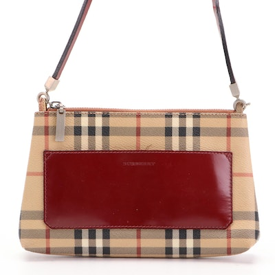 """Burberry Evening Bag in """"Haymarket Check"""" Coated Canvas and Leather"""