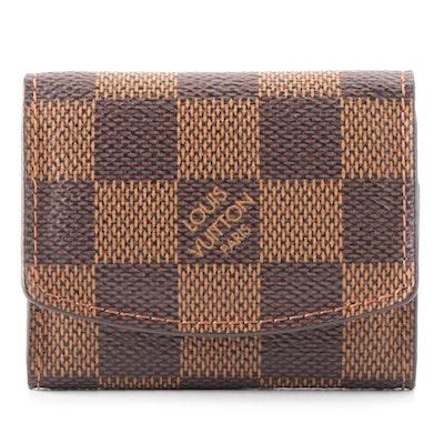 Louis Vuitton Cufflink Case in Damier Ebene Canvas