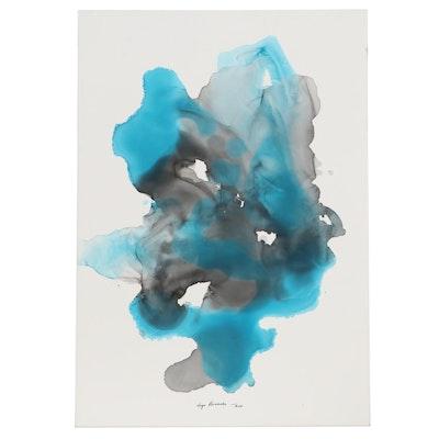 Inga Kovalenko Abstract Ink Painting, 21st Century