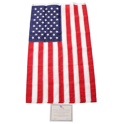 Republican Presidential Task Force Flag and Certificate, 1990