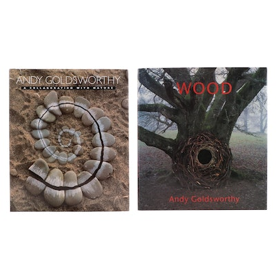 """""""A Collaboration with Nature"""" and """"Wood"""" by Andy Goldsworthy, Late 20th Century"""