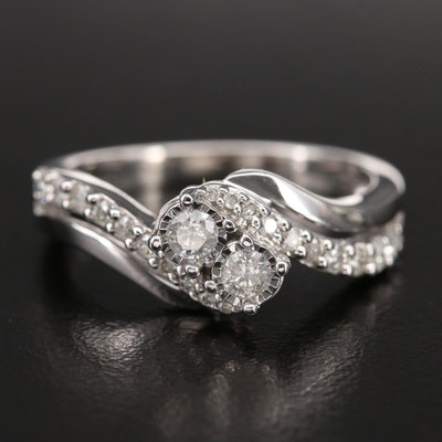 10K 0.50 CTW Diamond Bypass Ring