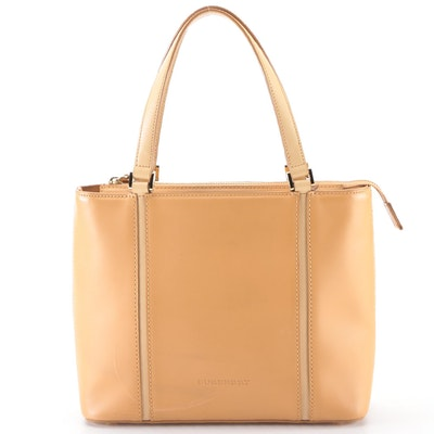 Burberry Handbag Tote Small in Bicolor Leather