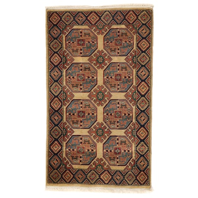 3' x 5'2 Hand-Knotted Area Rug