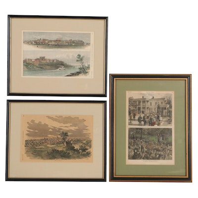 Harper's Weekly Hand-Colored Lithographs After W.A. Rogers and More