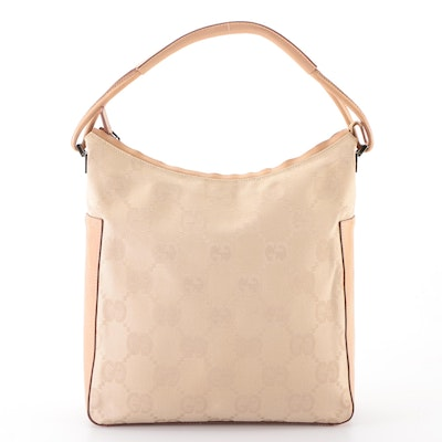 Gucci Shoulder Bag in Beige GG Canvas Large and Leather