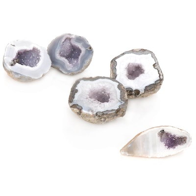 Agate and Amethyst Geode Specimens