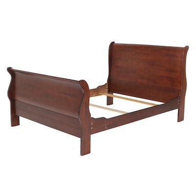 Mahogany Queen Size Sleigh Bed